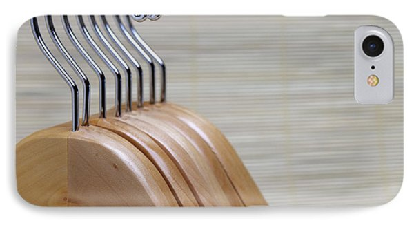 Wooden Clothes Hangers Phone Case by Skip Nall