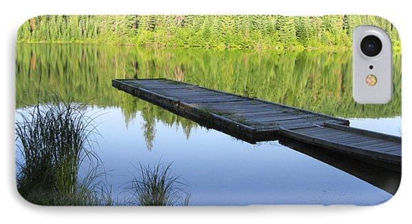 Wooden Dock On Lake IPhone Case by Anne Mott