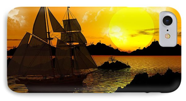 Wooden Ships IPhone Case by Robert Orinski