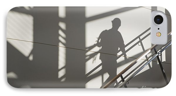 Workers Shadow In A Stairwell Phone Case by Andersen Ross