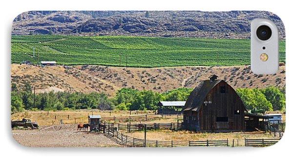 Working Farm Phone Case by Nancy Harrison