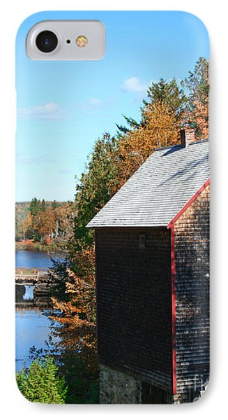 IPhone Case featuring the photograph Working Gristmill by Barbara McMahon