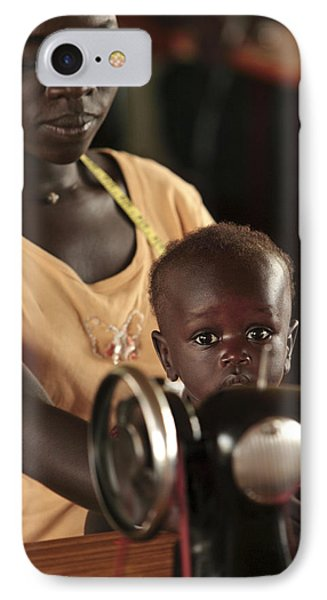 Working Mother And Child, Uganda Phone Case by Mauro Fermariello