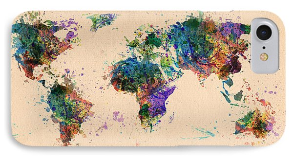 World Map 2 Phone Case by Mark Ashkenazi