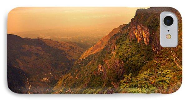 Worlds End. Horton Plains National Park. Sri Lanka Phone Case by Jenny Rainbow