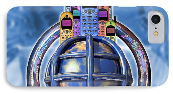 Worldwide Mobile Telephone Use Phone Case by Victor Habbick Visions