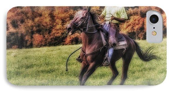 Wrangler And Horse Phone Case by Susan Candelario