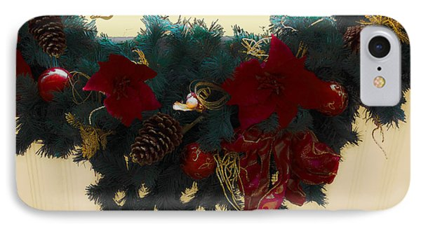 Wreath Garland Greeting Phone Case by DigiArt Diaries by Vicky B Fuller