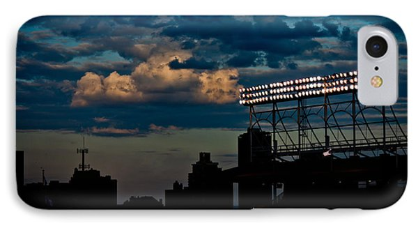 Wrigley Field Light Stand IPhone Case by Anthony Doudt