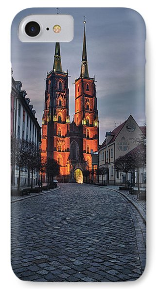 Wroclaw Cathedral IPhone Case by Sebastian Musial