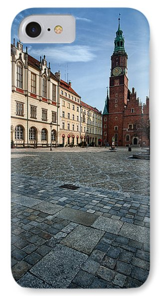 Wroclaw Town Hall IPhone Case by Sebastian Musial