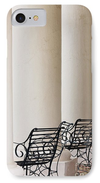Wrought Iron Chairs And Columns Phone Case by Jeremy Woodhouse