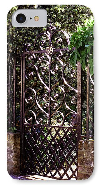 IPhone Case featuring the photograph Wrought Iron by Jean Haynes