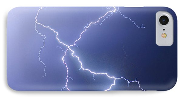 X Lightning Bolt In The Sky Phone Case by James BO  Insogna