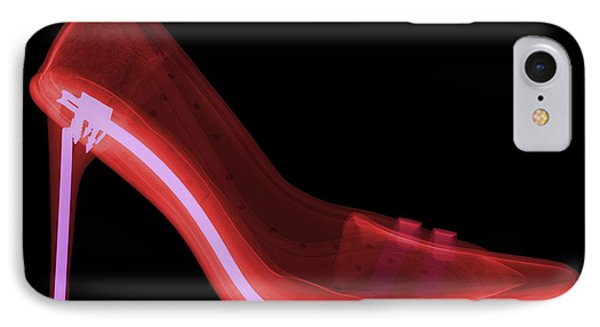 X-ray Of High Heel Shoes Phone Case by Ted Kinsman