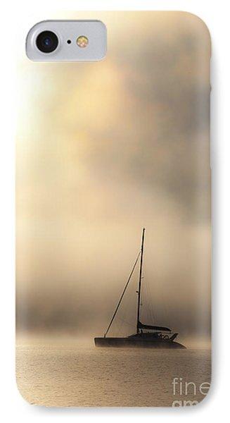 Yacht In Mist Phone Case by Avalon Fine Art Photography