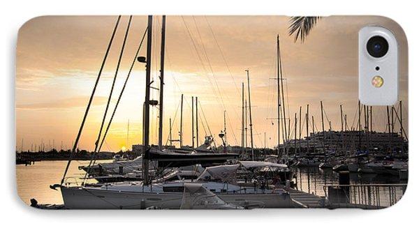 Yachts At Sunset Phone Case by Carlos Caetano