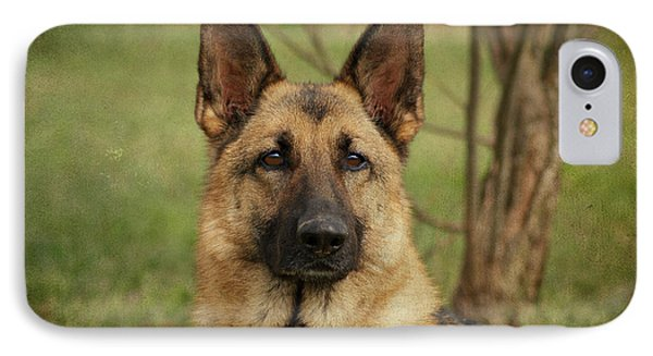 Yahtzee - German Shepherd IPhone Case by Sandy Keeton