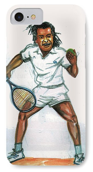 Yannick Noah IPhone Case by Emmanuel Baliyanga