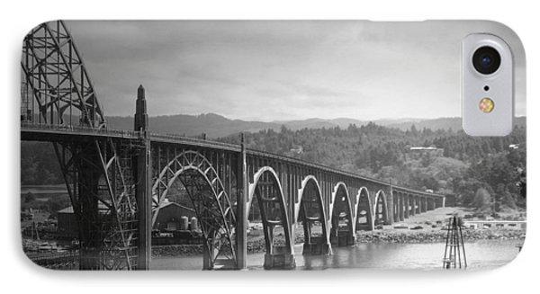 Yaquina Bay Bridge Oregon B And W Phone Case by Joyce Dickens