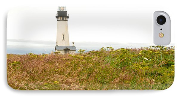 IPhone Case featuring the photograph Yaquina Head Lighthouse In Oregon by Artist and Photographer Laura Wrede