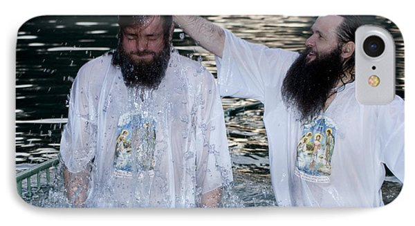 Yardenit Baptismal Site Phone Case by Amos Gal