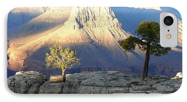IPhone Case featuring the photograph Yavapai Point Cliff Hangers by Scott Rackers
