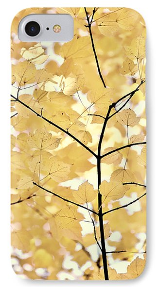 Yellow Brown Leaves Melody Phone Case by Jennie Marie Schell
