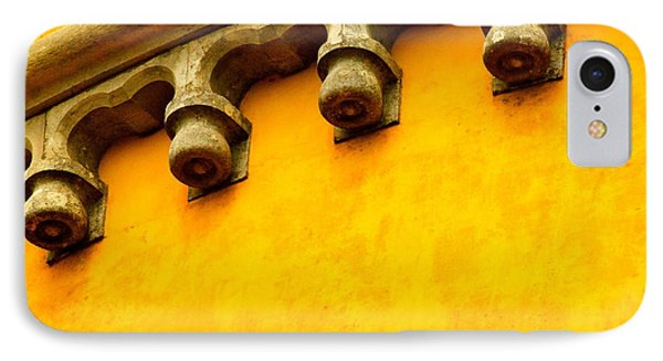 Yellow Castle IPhone Case by Michael Cinnamond