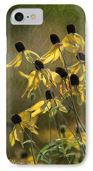 Yellow Coneflowers Phone Case by Bruce Morrison