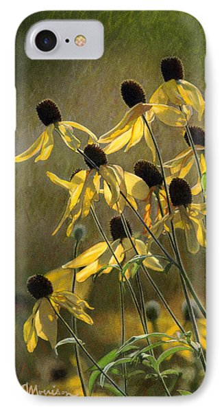 Yellow Coneflowers IPhone Case by Bruce Morrison