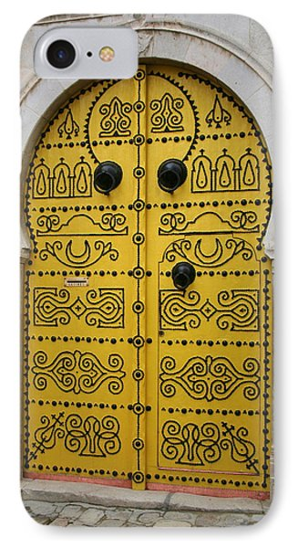 IPhone Case featuring the photograph Yellow Door In Bardo by Laurel Talabere