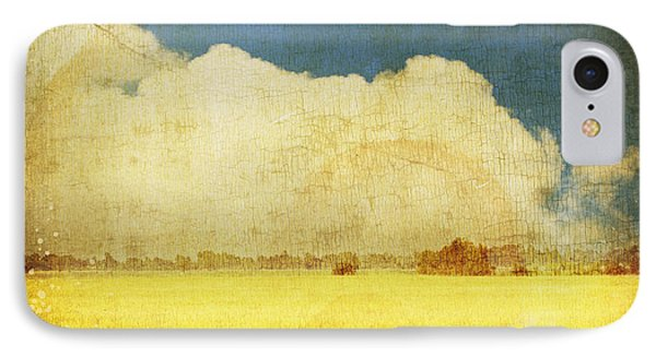 Yellow Field IPhone Case by Setsiri Silapasuwanchai