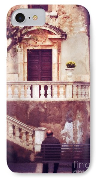Yellow Flowers In A Vase In Taormina Sicily Phone Case by Silvia Ganora