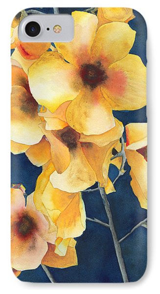 Yellow Flowers Phone Case by Ken Powers