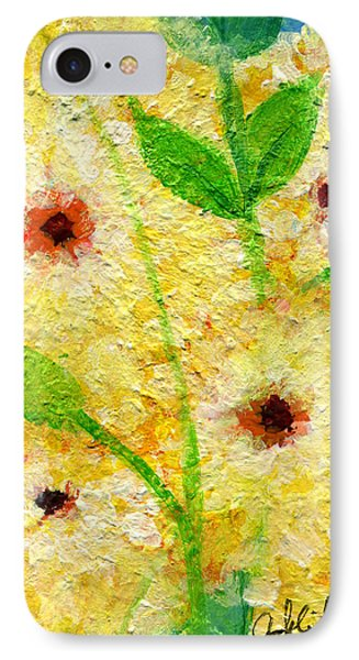 Yellow Flowers Laugh In Joy Phone Case by Ashleigh Dyan Bayer