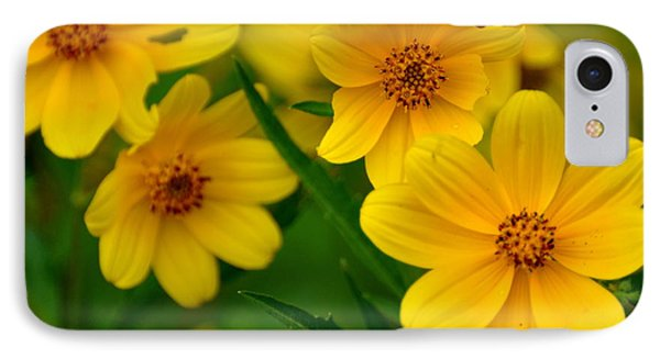 Yellow Flowers Phone Case by Marty Koch