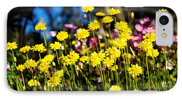 Yellow Flowers IPhone Case by Yew Kwang
