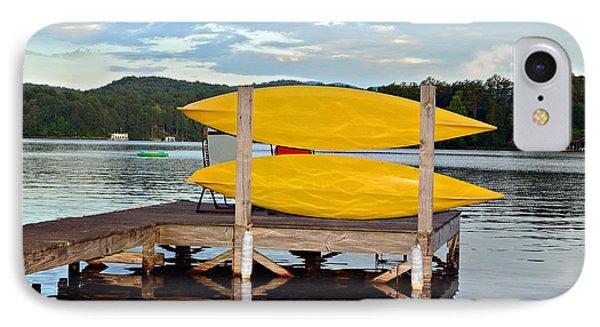 Yellow Kayaks Phone Case by Susan Leggett