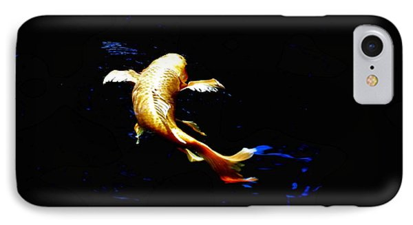 Yellow Koi Phone Case by Don Mann