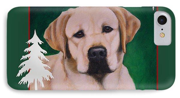 Yellow Labrador Portrait Christmas IPhone Case