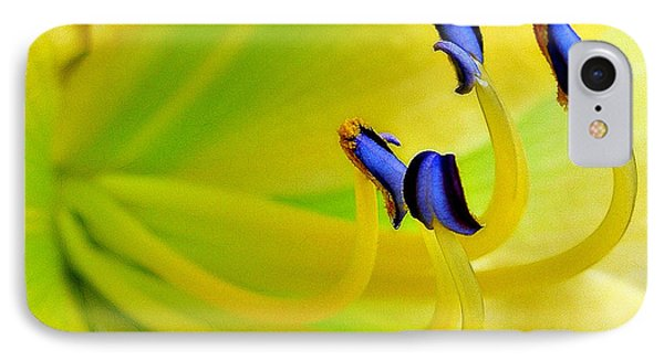 Yellow Lily Phone Case by Judi Bagwell
