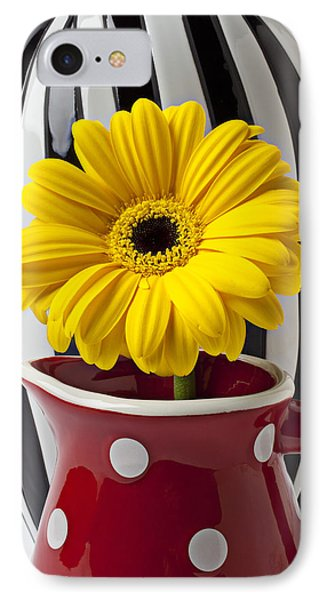 Yellow Mum In Pitcher  Phone Case by Garry Gay