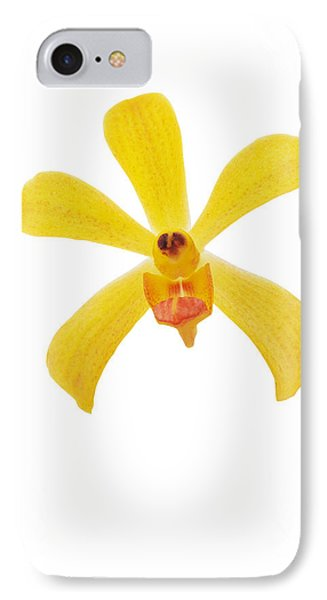 Yellow Orchid Phone Case by Atiketta Sangasaeng
