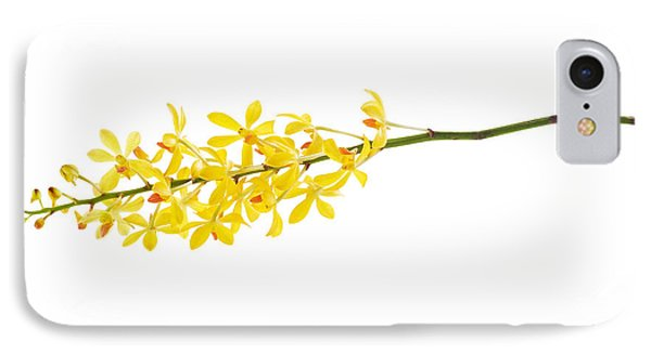 Yellow Orchid Bunch Phone Case by Atiketta Sangasaeng