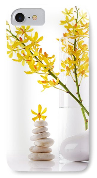 Yellow Orchid Bunchs Phone Case by Atiketta Sangasaeng