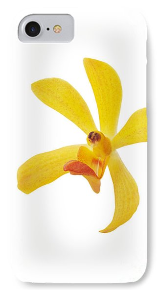 Yellow Orchid Head Phone Case by Atiketta Sangasaeng