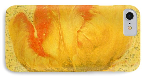 IPhone Case featuring the painting Yellow Parrot Tulip by Richard James Digance