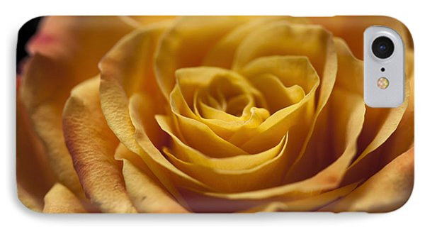 Yellow Rose Bud Phone Case by Zoe Ferrie