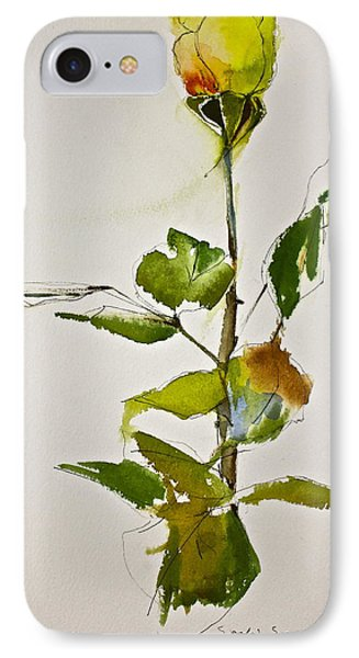 Yellow Rose-posthumously Presented Paintings Of Sachi Spohn  IPhone Case by Cliff Spohn